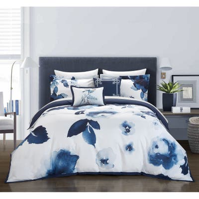 Chic Home Central Garden 9 Piece Floral Bed in a Bag Comforter Set