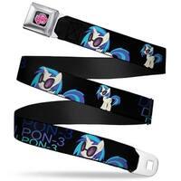 My Little Pony Logo Full Color Black Pink DJ Pon 3 Black Blues Webbing Seatbelt Belt