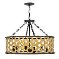 Fredrick Ramond FR40994SSG 6-Light Large Foyer Single Pendant from the Felix Collection - Sunset Gold