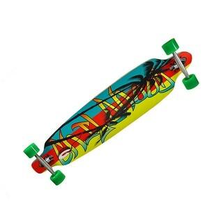 42 Inch Drop Through Complete Longboard Speed Skateboard - Multicolored