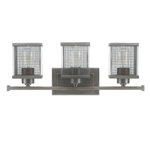 """Donny Osmond Home 8033 3-Light 22"""" Wide Bathroom Fixture from the Carson Collection - Graphite"""