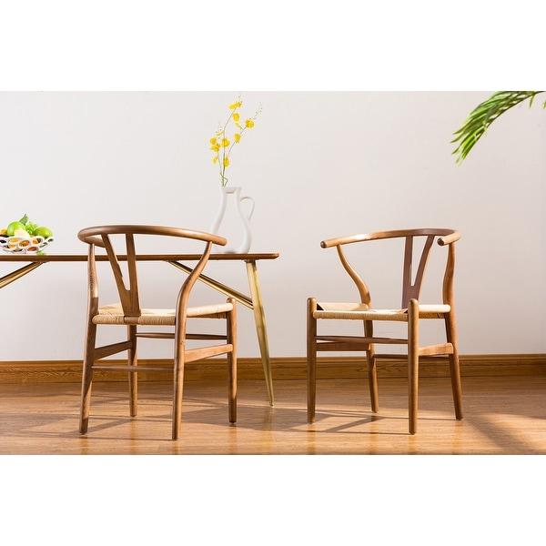 Shop Porthos Home Qirin Wood Dining Chair, Kraft Rope And ...