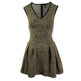 Aqua Womens Metallic Pattern Casual Dress