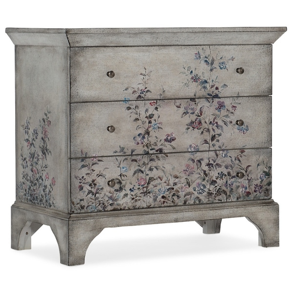 """Hooker Furniture 500-50-997 36"""" Wide 3 Drawer Poplar Wood Dresser - Vintage White"""