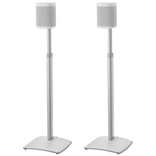 Sanus Adjustable Height Wireless Speaker Stands for Sonos ONE, PLAY:1, and PLAY:3 - Pair
