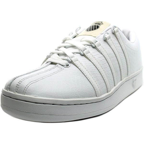 K-Swiss The Classic P Men Round Toe Leather Tennis Shoe