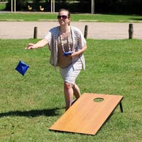 Sunnydaze 2-Foot x 4-Foot Cornhole Bean Bag Toss Game Set with 8 Bean Bags