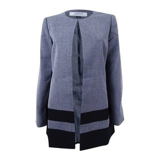 Link to Tahari ASL Women's Ponte Striped Jacket - Grey/Black Similar Items in Suits & Suit Separates