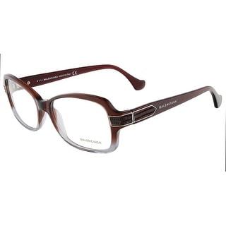Balenciaga BA5005/V 068 Mahogany Gradient Grey Rectangular Opticals