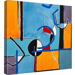 "PTM Images 9-97767  PTM Canvas Collection 12"" x 12"" - ""Composition Square 2"" Giclee Abstract Art Print on Canvas"