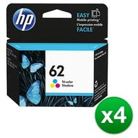 HP 62 Tri-color Original Ink Cartridge (C2P06AN) (4-Pack)