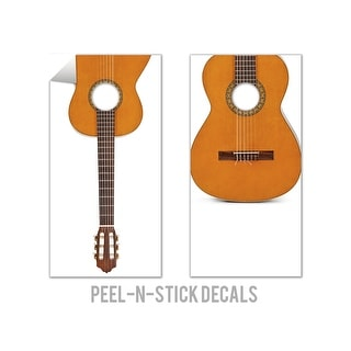 Acoustic Guitar Cornhole Board Decals