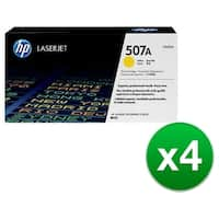 HP 507A Yellow Original LaserJet Toner Cartridge For US Government (CE402AG)(4-Pack)