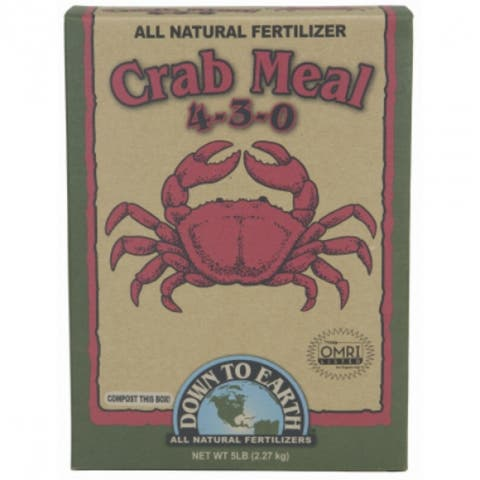 Down To Earth 07844 Crab Meal All Natural Fertilizer, 5 Lbs, 4-3-0