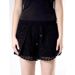 Crochet Drawstring Shorts