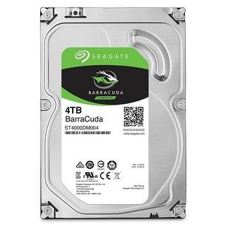 Seagate 4TB BarraCuda SATA 6Gb/s 256MB Cache 3.5-Inch Internal Hard Drive (ST4000DM004) Single Pack