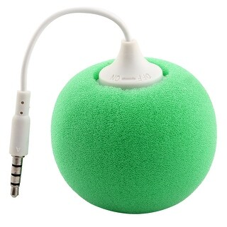 Portable 3.5mm Audio Jack Music Player Speaker Green for Phone Laptop PC