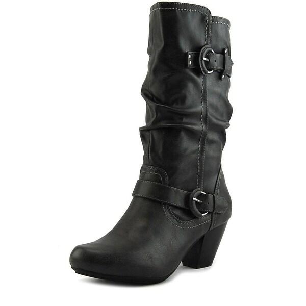 Rialto Coras Round Toe Leather Mid Calf Boot
