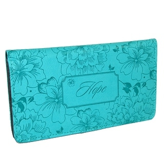 Christian Art Gifts Women's Hope Checkbook Cover - Turquoise - One Size