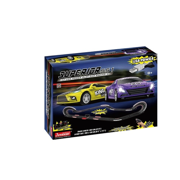 JOYSWAY Superior 551 USB Power Slot Car Racing set. Opens flyout.