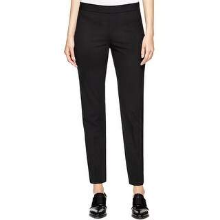 DKNY Womens Pants Stretch Side Zip Black 4