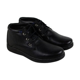 Hush Puppies Vice Victory Mens Black Leather Casual Dress Chukkas Shoes