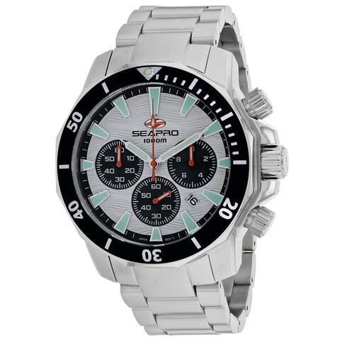 Seapro Men's Scuba Dragon Diver Limited Edition 1000 Meters White Dial Watch - SP8342