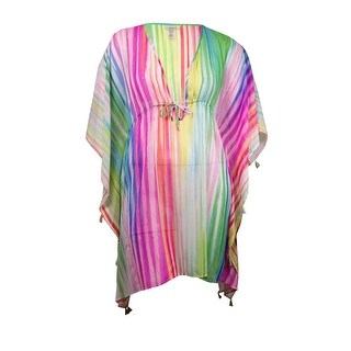 Bleu Rod Beattie Women's Rainbow Striped Swim Cover - multi