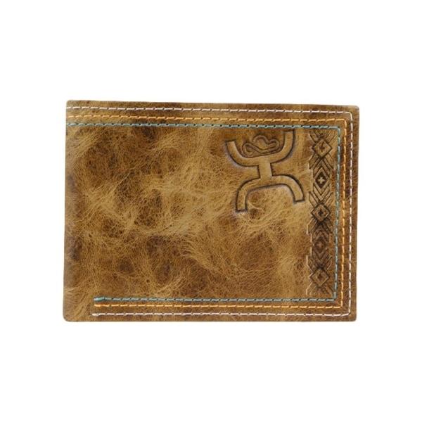 HOOey Western Wallet Mens Signature Bifold Aztec Chestnut - 4 x 3/4 x 3