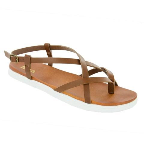 ceed507f98e MIA Womens Elana Split Toe Casual Strappy Sandals