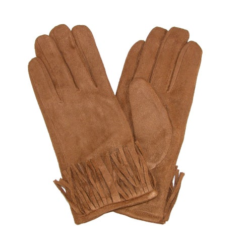 David & Young Women's Western Fringe Winter Gloves