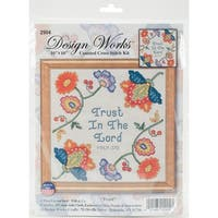 "Trust Counted Cross Stitch Kit-10""X10"" 14 Count"
