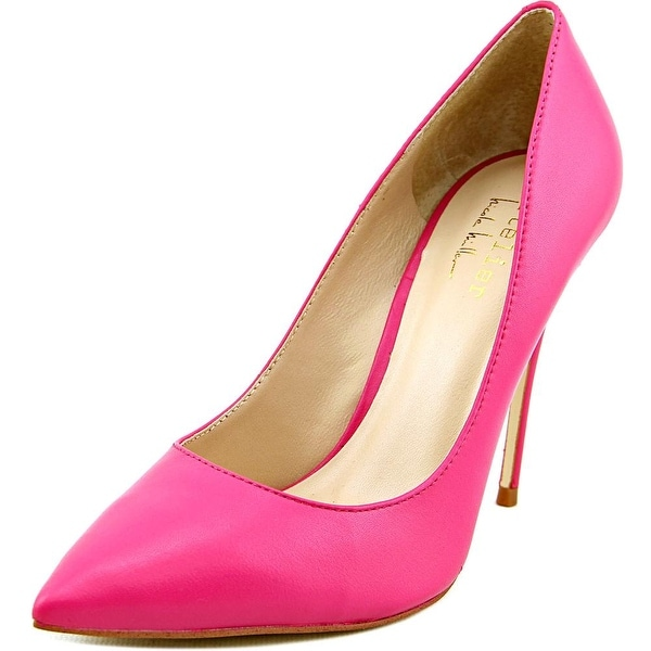 Nicole Miller Maison Women Pointed Toe Leather Pink Heels