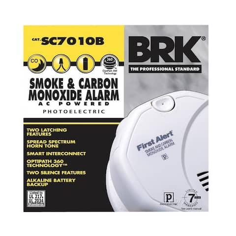 First Alert SC7010B Photoelectric Carbon Monoxide & Smoke Alarm, Backup