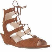 I35 Mandie Strappy Wedge Sandals, Toast