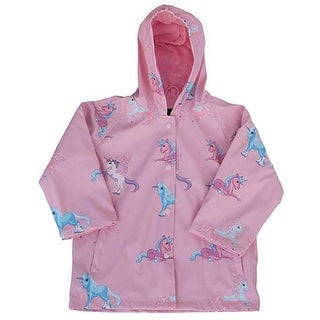 Foxfire FOX-601-47-3T 3 Toddler Childrens Unicorn Raincoat, Pink