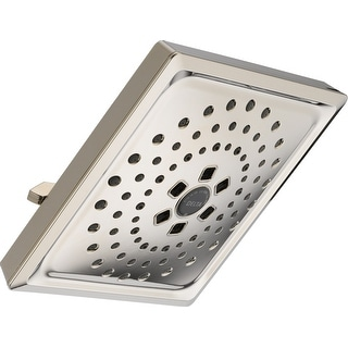 """Delta 52684  1.75 GPM Universal 7-5/8"""" Wide Multi Function Shower Head with H2Okinetic Technology"""