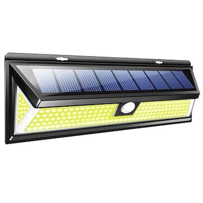 LED Wall Light Solar Power Motion Sensor Waterproof Lamp Wide Lighting Angle Outdoor Garden Path Way