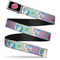 My Little Pony Logo Fcg Black Pink Chrome Princess Celestia Blocks Web Belt