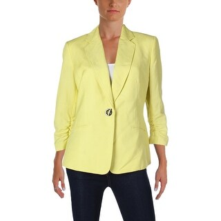 Kasper Womens One-Button Blazer Linen 3/4 Sleeves (More options available)