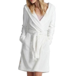 UGG NEW White Ivory Women's Size Large L Soft Wrap Belted Robes