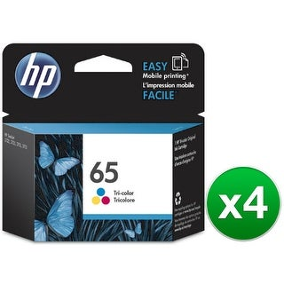HP 65 Tri-Color Original Ink Cartridge (N9K01AN)(4-Pack)
