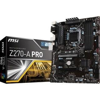 MSI USA Z270-A PRO Desktop Motherboard Z270-A PRO Desktop Motherboard