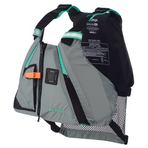 Onyx movement dynamic paddle sports life vest xs/sm aqua 122200-505-020-15