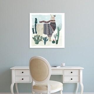Easy Art Prints Victoria Borges's 'Holiday Llama II' Premium Canvas Art