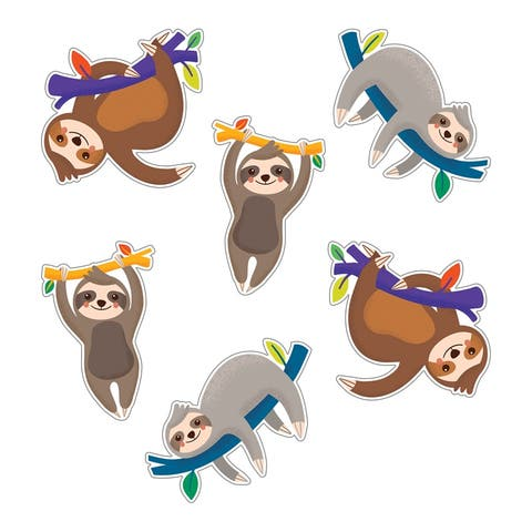 One World Sloths Cut-Outs - One Size