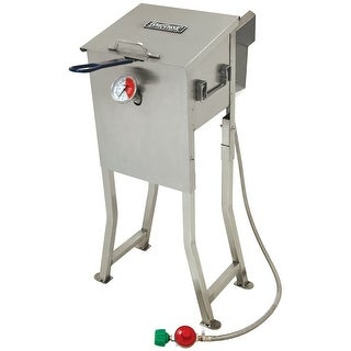 Bayou Classic 700-725 Stainless Steel 2.5 Gallon Bayou Deep Fryer - Stainless Steel