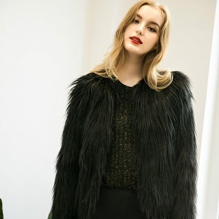 Women's  Fur Vintage Winter Warm Fluffy Faux Fur Coat Jacket Outwear