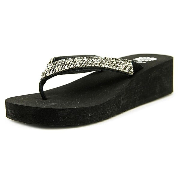 Yellow Box Torian Women Open Toe Synthetic Black Flip Flop Sandal