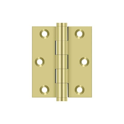Deltana DSB3025 3 Inch x 2-1/2 Inch Plain Bearing Square Corner Screen Door Mortise Hinge - Pair